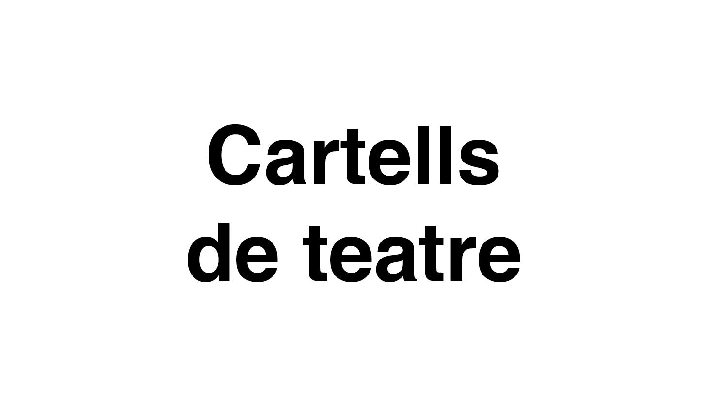 Cartells de teatre